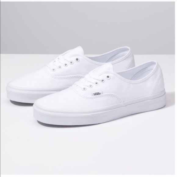 Authentic Lite White Canvas Sneakers